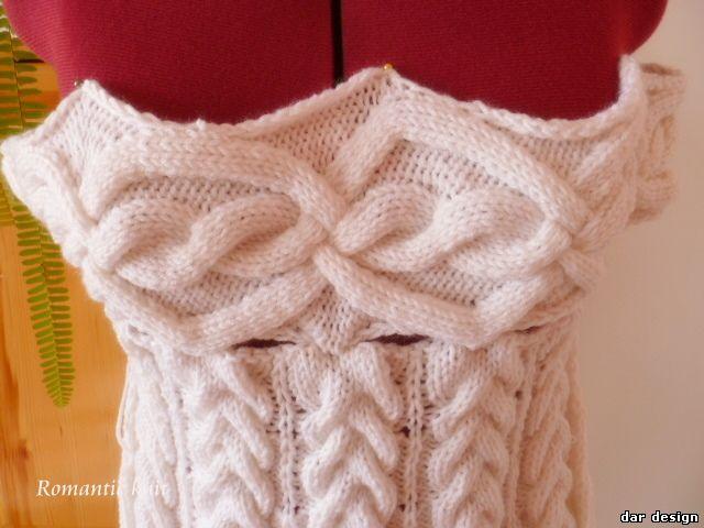 Как связать платье в стиле шамони